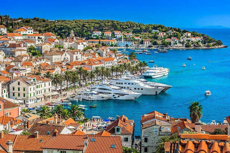 Vue de la ville de Split en Croatie