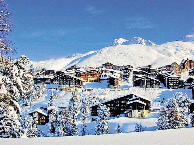 Station de ski - La Plagne - Belle-Plagne - ski au mois de mars