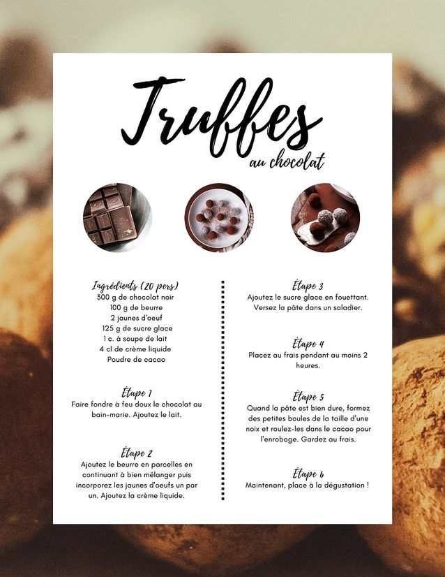 Recette des truffes au chocolat