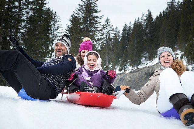 Des vacances au ski en famille