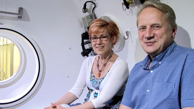 Leila Viitala (Ideoiva Oy) ja Harri Toijanen (Hypcom Oy)