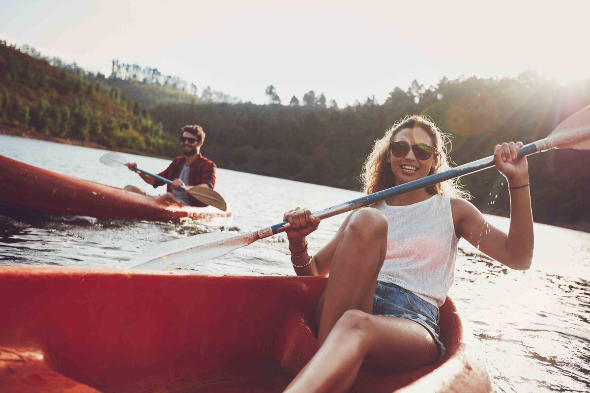 Faire du kayak à la campagne