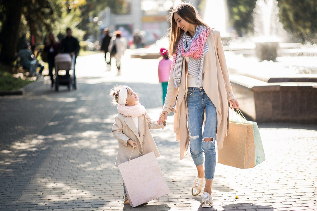 Shopping mère fille