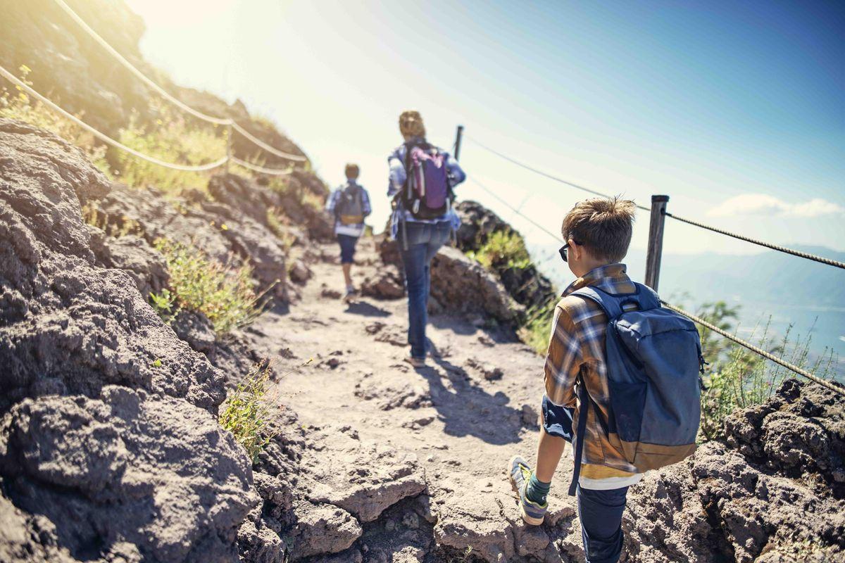 Faire de la randonnée en famille