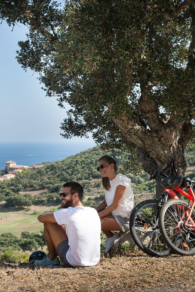Randonnée à bicyclette dans le Massif de l'Esterel