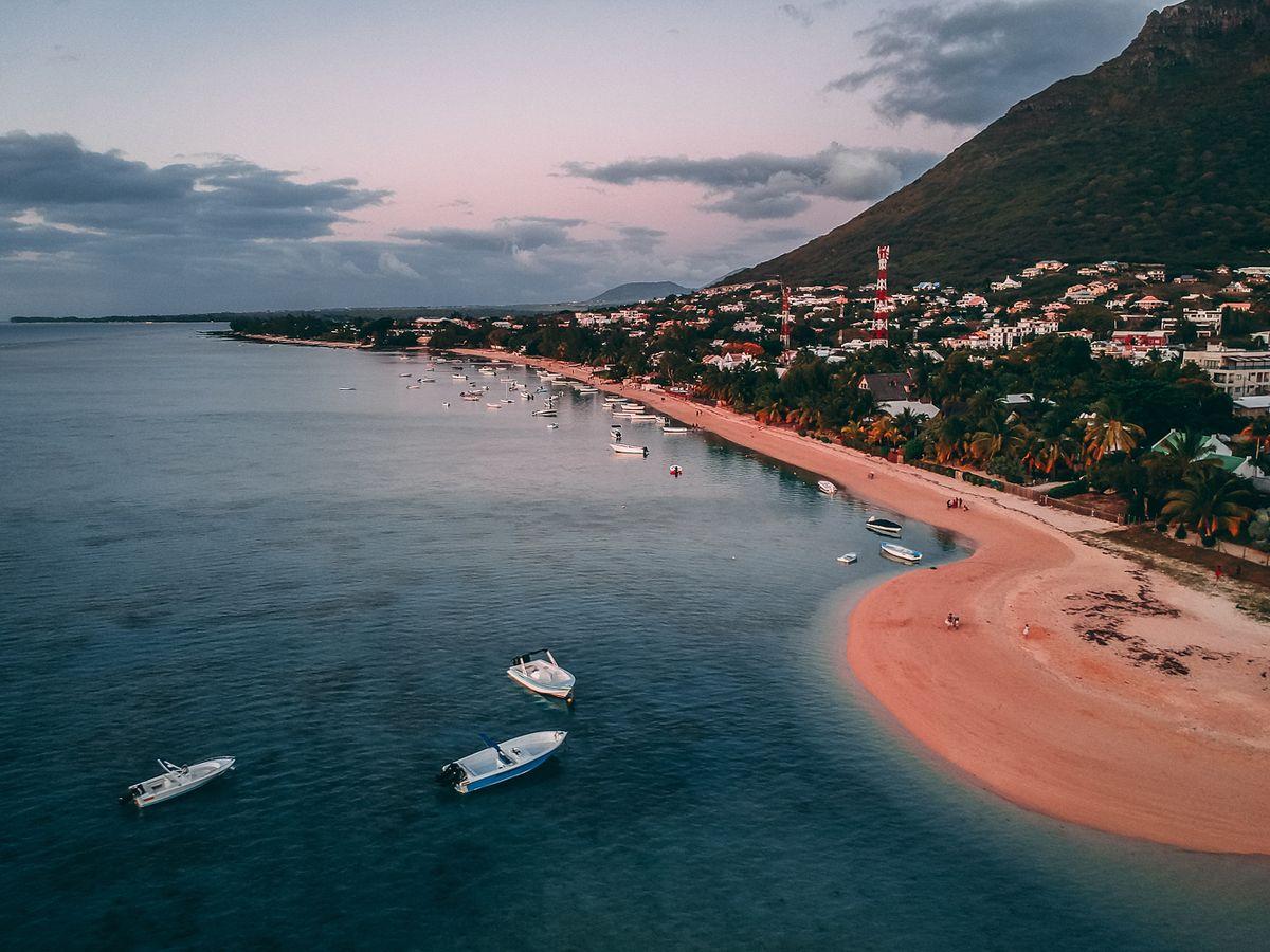 Vue d'une plage sur l'Île Maurice