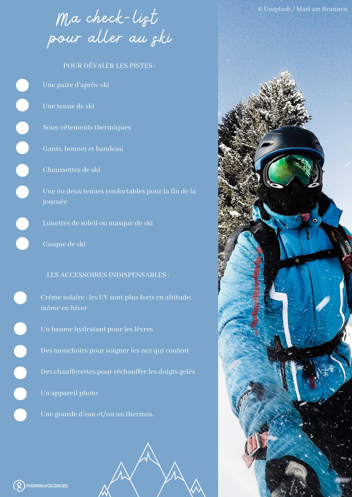 Check-list pour aller au ski