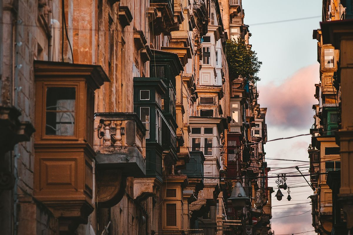 Le quartier de La Valette à Malte