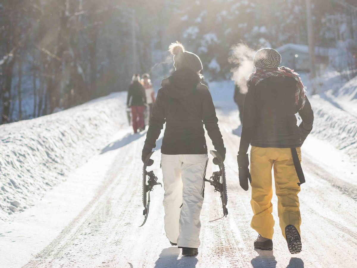 Randonnée en raquette de ski