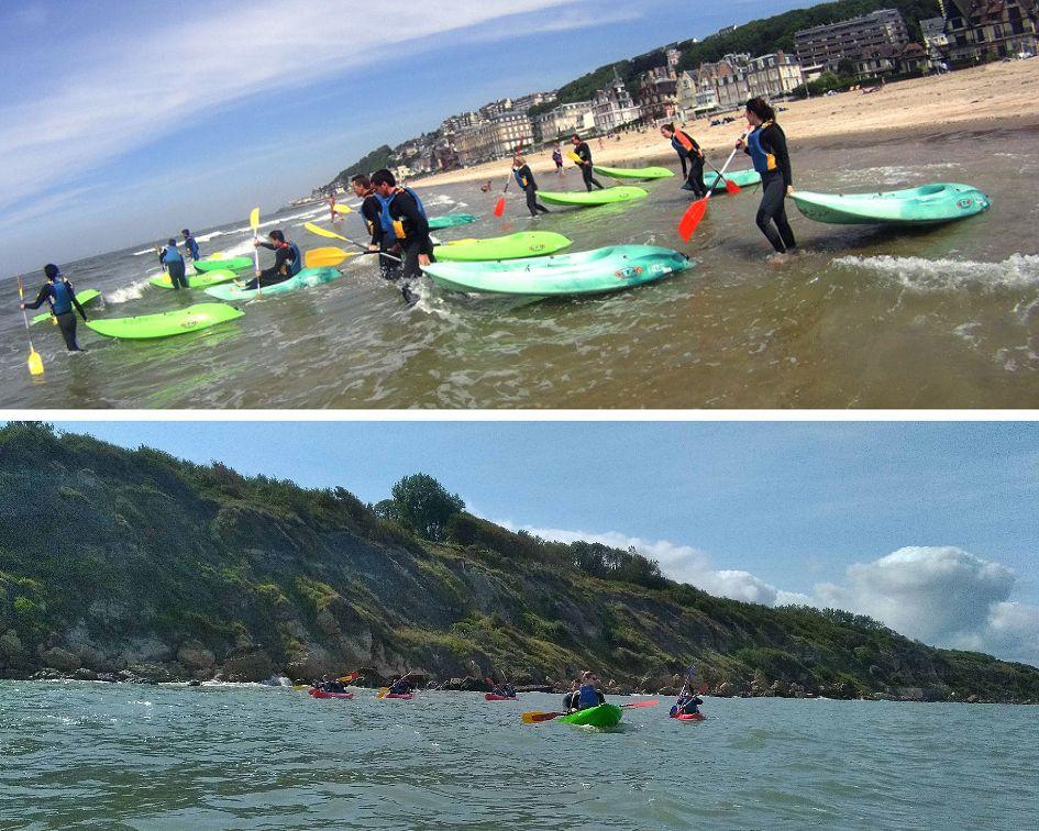 RendezvousCheznous - Randonnée kayak à la découverte des falaises des Roches Noires