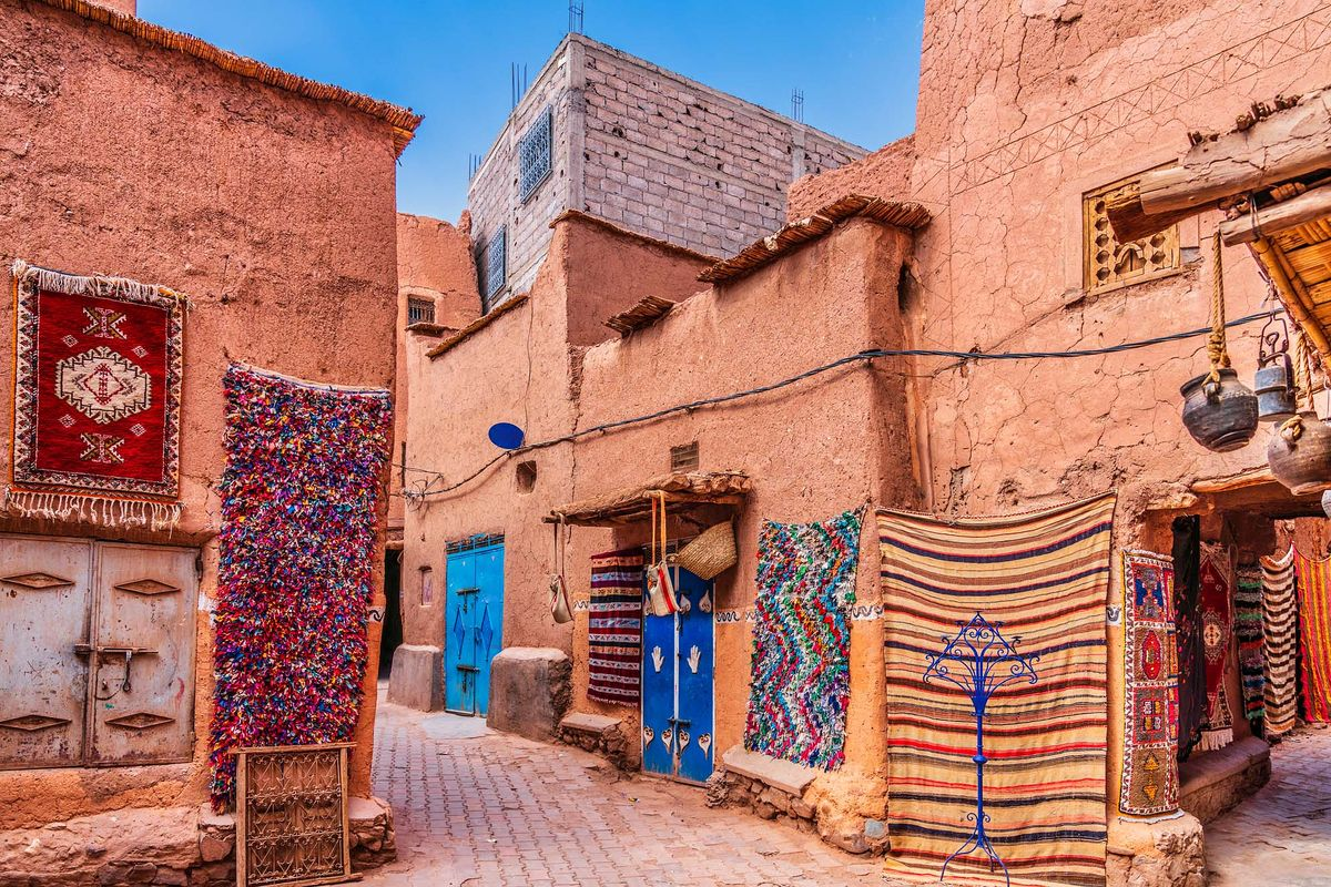 Marrachech - souks - tapis