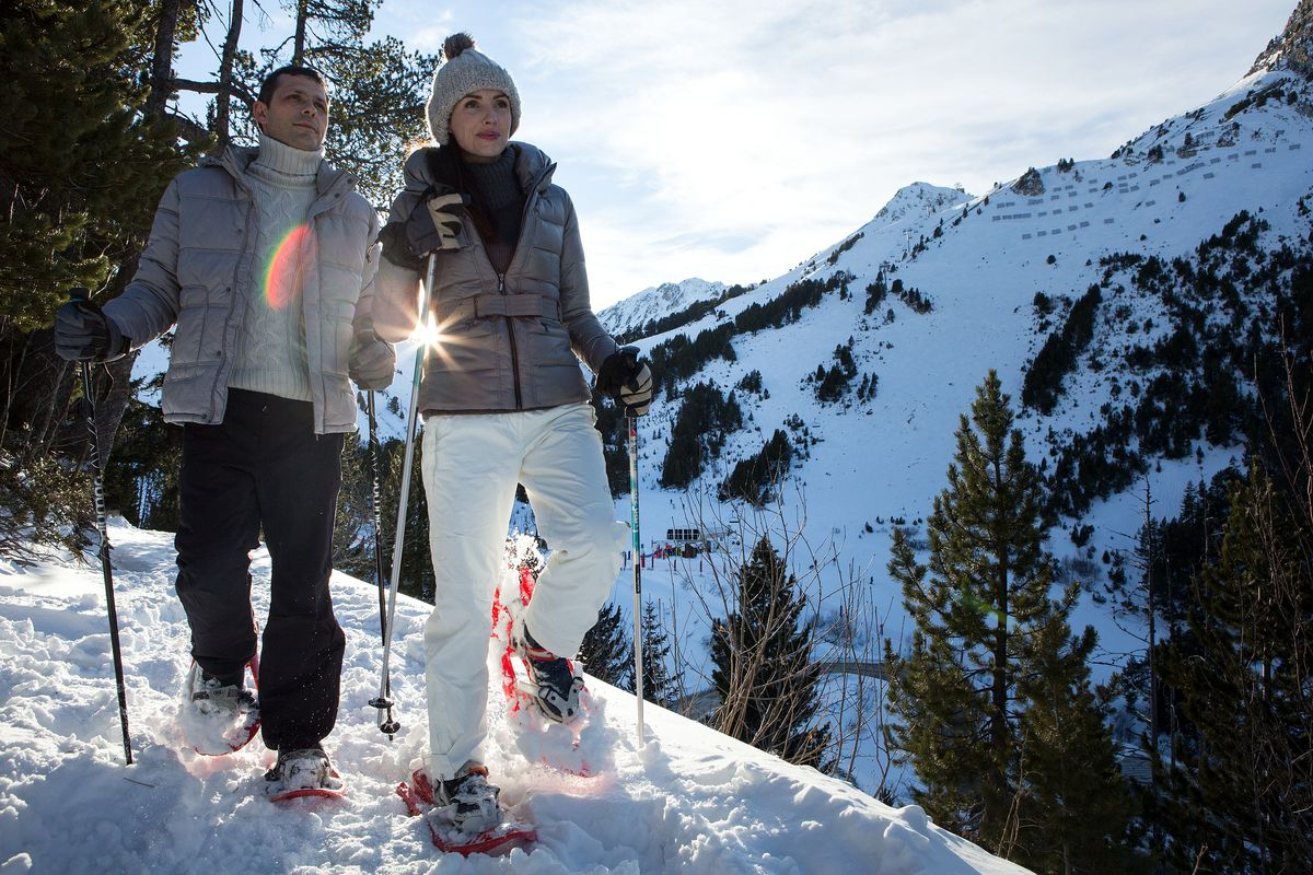 Balade en raquettes à la montagne