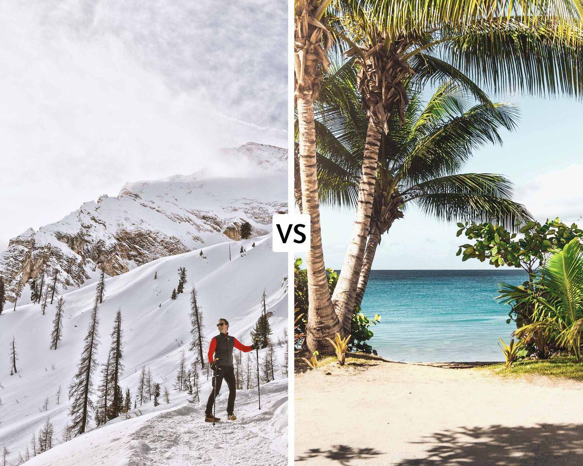 Vacances à la montagne ou vacances au soleil