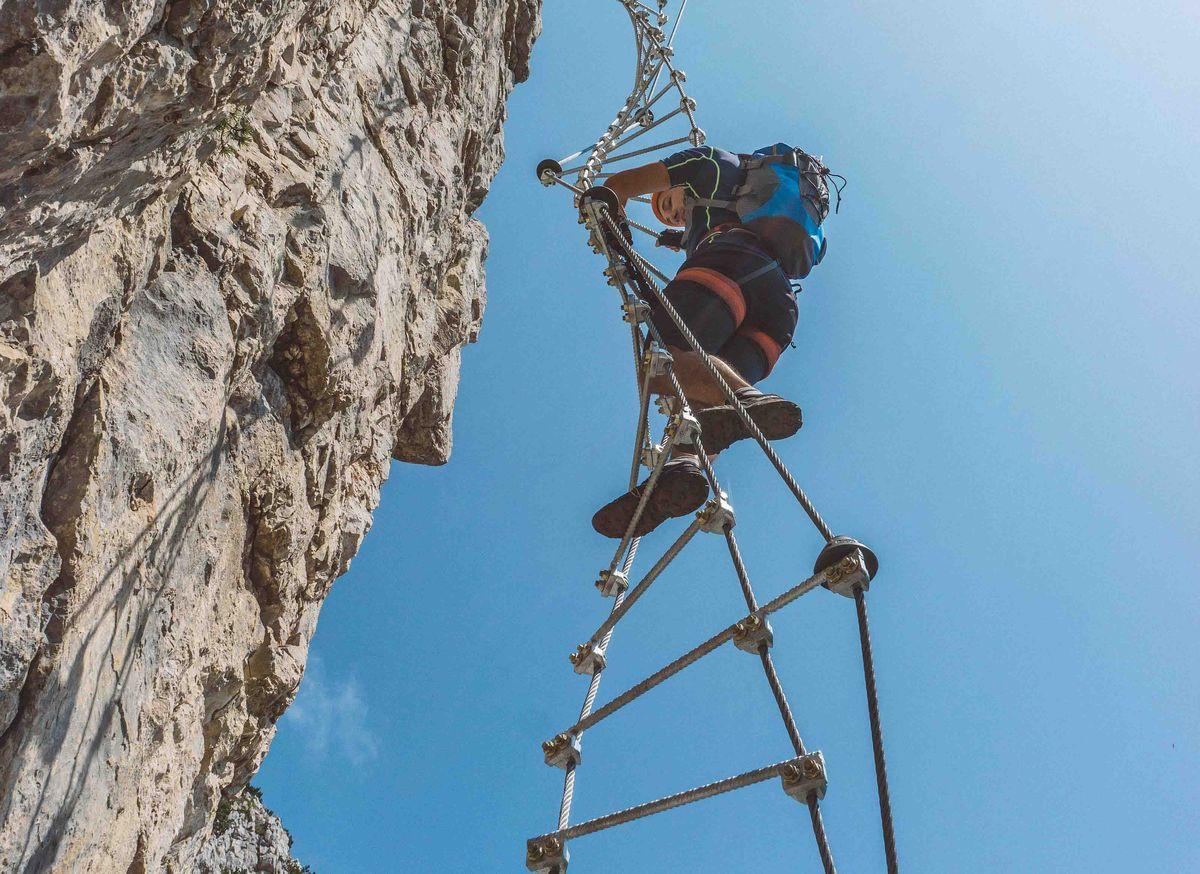 Via ferrata, une activité en montagne l'été