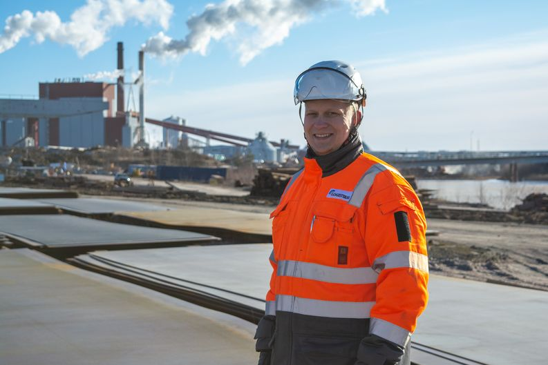 Markus Viitanen, Logistikas Ltd's Unit manager at Rauma shipyard