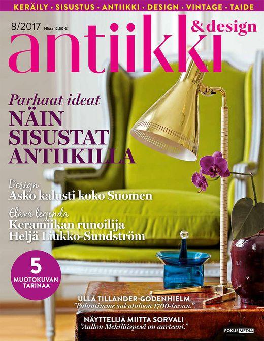 Antiikki ja Design -lehden kansi