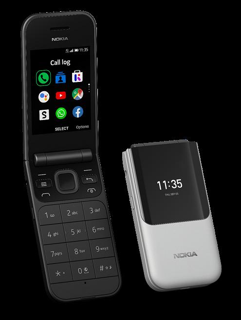 Nokia 2720 Flipin värivaihtoehdot.