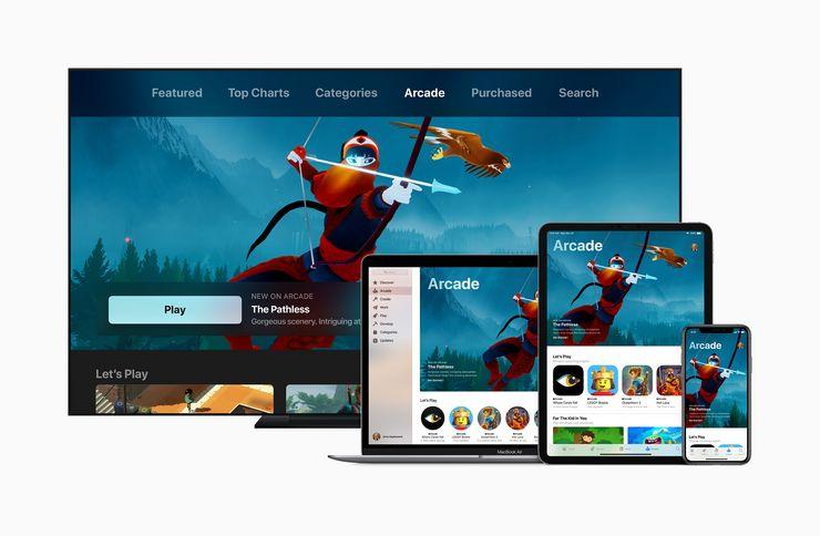 Apple Arcade -pelit tulevat saataville laajasti Applen eri laitteille.