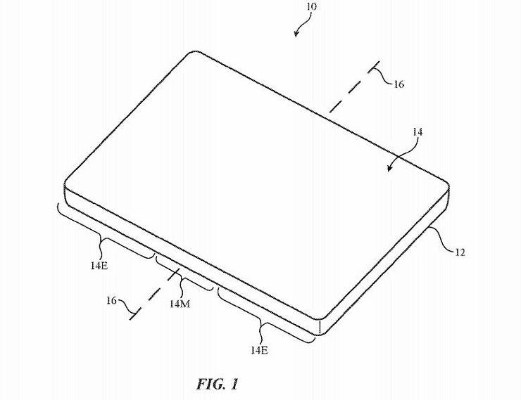 Applen patentti kuvailee taipuvalla näytöllä varustettua laitetta.