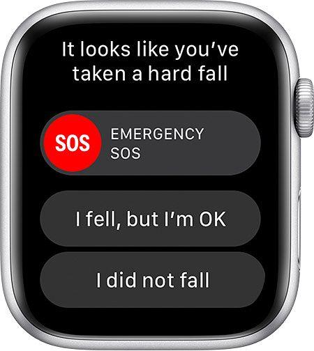 Apple Watch soittaa hätänumeroon, jos käyttäjä ei kaatumisen jälkeen liiku ja vastaa ilmoitukseen.