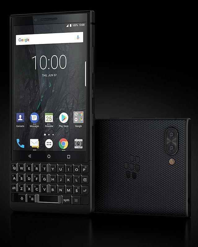 BlackBerry Key2 täysmustana.