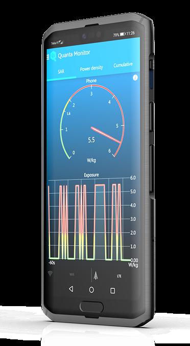 Centinel-puhelimeen on tulossa Cellraidin Quanta-ohjelmisto säteilyä rajoittamaan.
