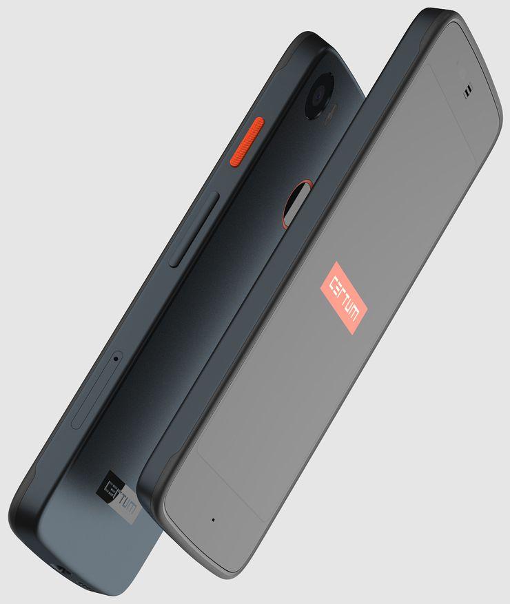 Certum Phone näyttää ulkopuolelta pääosin tavalliselta älypuhelimelta, mutta muovikuoret ovat nykypäivänä poikkeus.