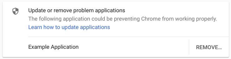 Chrome 66 osaa kertoa, jos se havaitsee epäilyttäviä kolmannen osapuolen sovelluksia.
