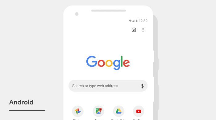 Chromen uusi ilme Android-laitteella.