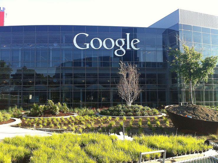 Googlen nykyinen Googleplex-pääkonttori Kaliforniassa.
