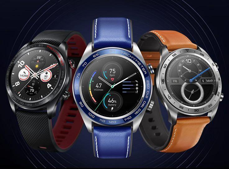 Kaikki Honor Watch Magic -värivaihtoehdot. Sininen ei kuulu valikoimaan Suomessa.