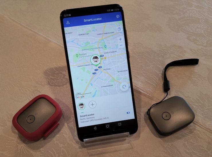 Huawei Locator toimii yhdessä älypuhelinsovelluksen kanssa.
