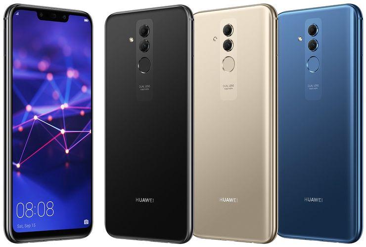 Huawei Mate 20 Lite kolmena eri värivaihtoehtona Evan Blassin Twitterissä aiemmin vuotamassa kuvassa.