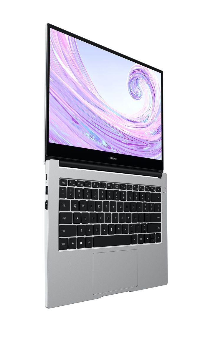 Uutuuskaksikosta MateBook D 14″:n kansi aukeaa tällä tavalla 180 astetta suoraksi. 15″-mallin kansi ei avaudu aivan yhtä paljon.