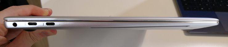 MateBook X Pron kaksi USB-C-porttia ovat nyt varustettu Thunderbolt 3 -tuella.