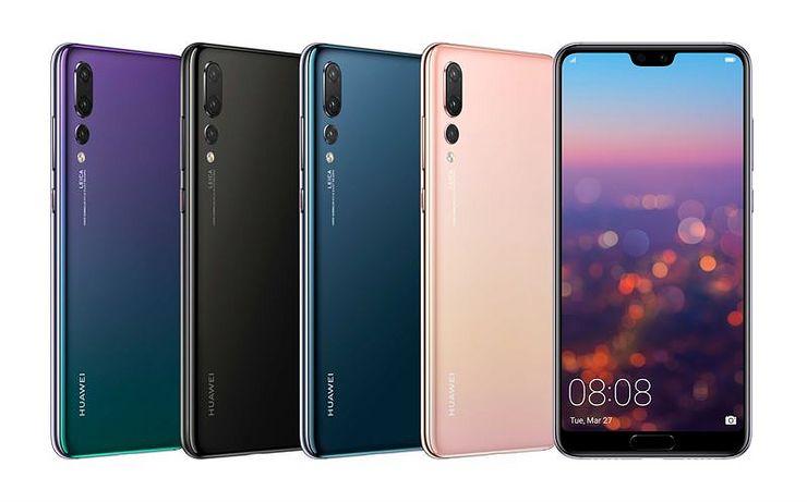 Huawei P20 Pro eri väreissä.