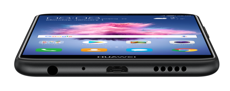 P Smartin pohjasta löytyvät Micro-USB- ja 3,5 mm -liitännät sekä aukot mikrofonille ja kaiuttimelle.
