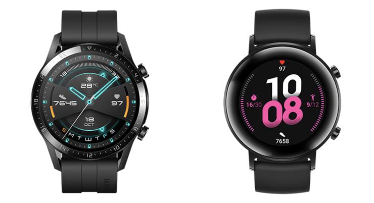 Huawei Watch GT 2, 46 vs. 42 mm.