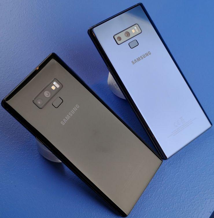 Musta ja sininen Galaxy Note9 tulevat myyntiin Suomessa.