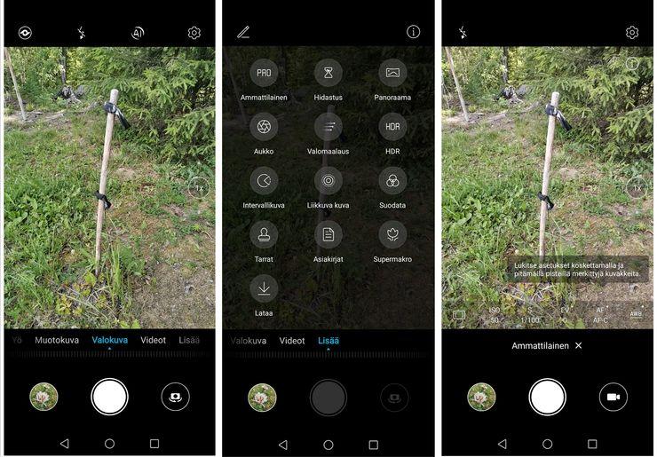 Kameran simppeli käyttöliittymä on Honor-käyttäjille tuttu.