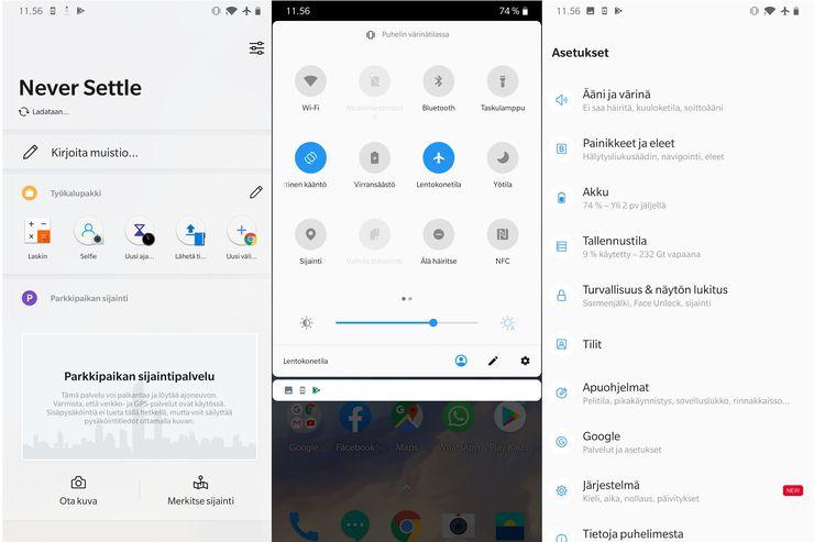 OnePlus 7:n OxygenOS:ää on kehuttu laajalti.