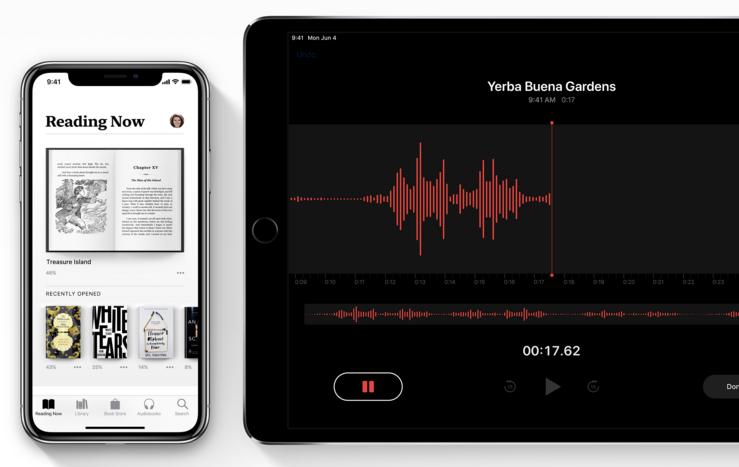 Uudistunut Kirjat-sovellus ja Sanelimen tulo iPadillekin ovat myös iOS 12:n uudistuksia.
