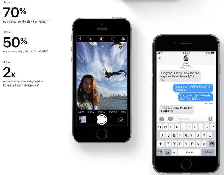 iOS 12 parantaa suorituskykyä.
