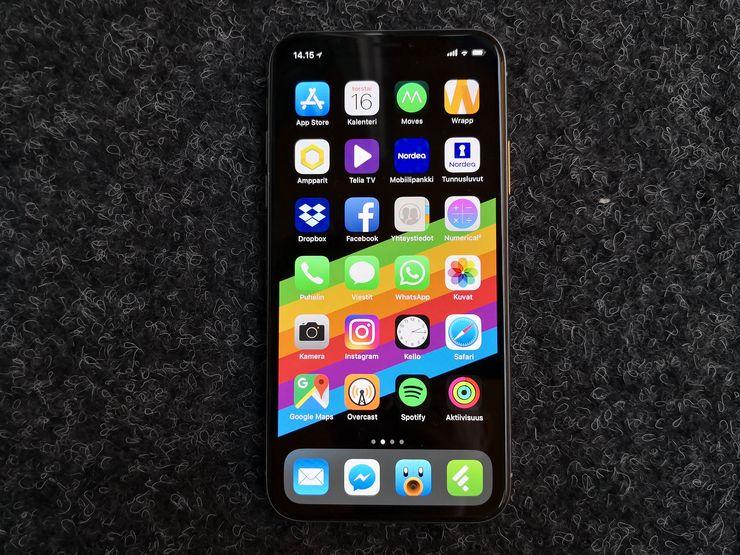 iPhone X:n 5,8 tuuman OLED-näyttö on aivan erinomainen.