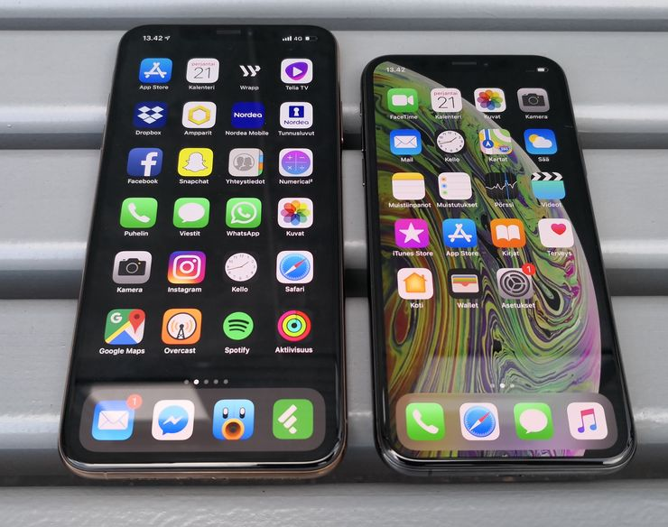 iPhone XS Max ja iPhone XS.