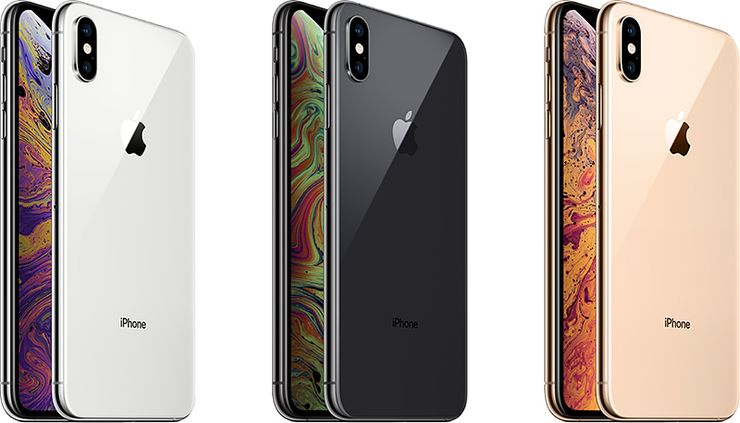 iPhone XS -mallien värivaihtoehdot.