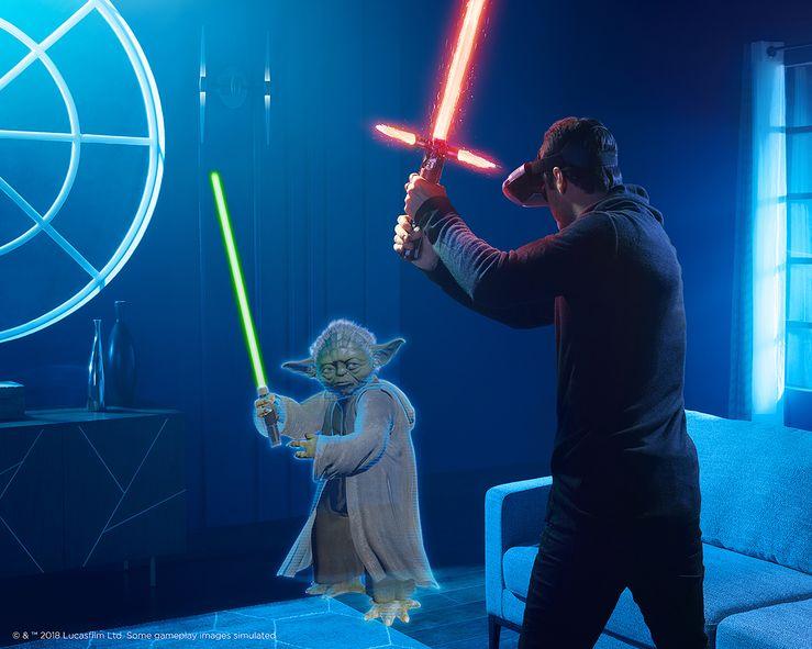 Star Wars: Jedi Challenges Dark Side -laajennuksessa voi taistella esimerkiksi Yoda vastaan.