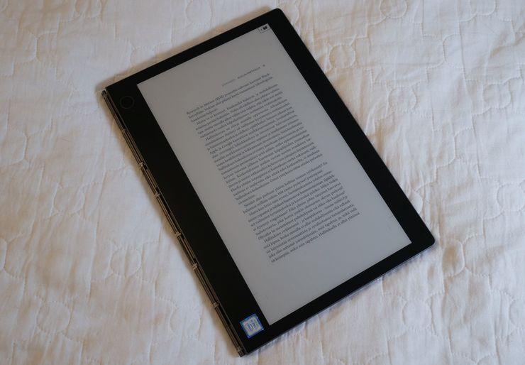 E Ink -näyttö soveltuu erinomaisesti kirjojen lukemiseen.