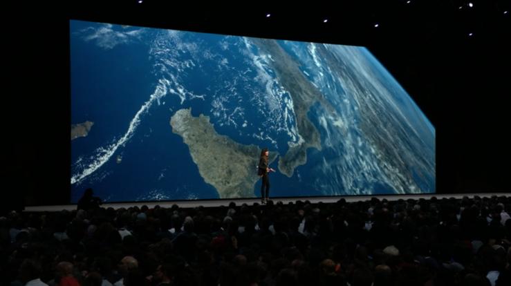 Apple TV:n uusi Maapallo-näytönsäästäjä.