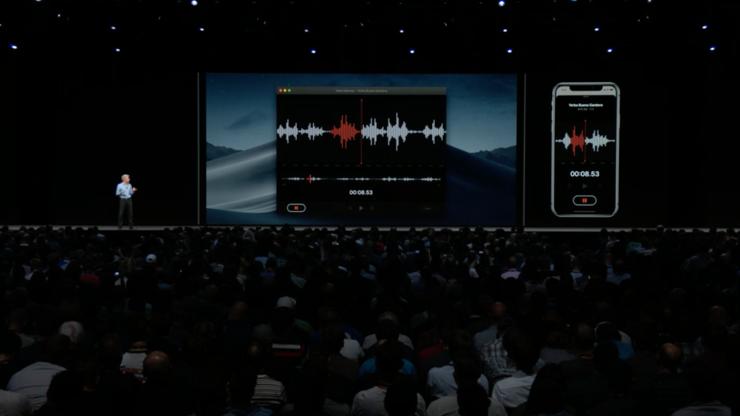 Äänimuistio-ohjelma macOS:lla.